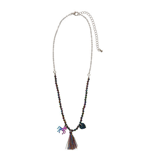 Oh Hello 16 Inch Cable Heart Beaded Necklace