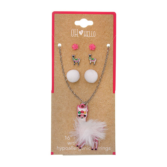 Oh Hello Llama 4-pc. Jewelry Set
