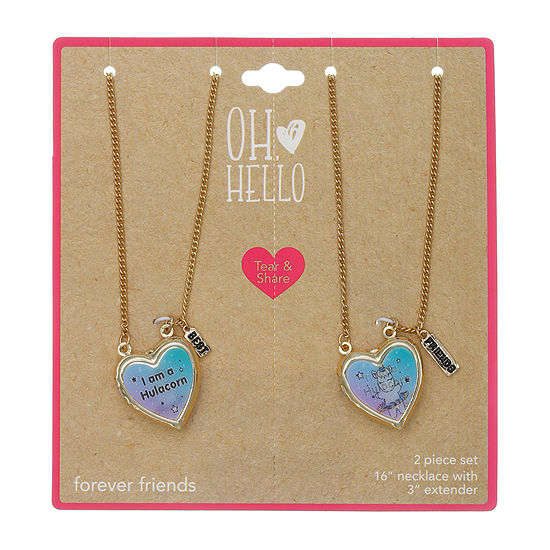 Oh Hello 2-pc. 16 Inch Curb Heart Pendant