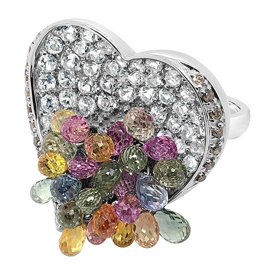 Le Vian Grand Sample Sale™ Ring featuring Blueberry Sapphire™ Vanilla Topaz™ Chocolate Diamonds® set in 14K Vanilla Gold®