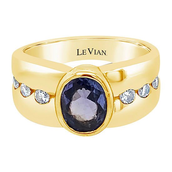 Le Vian Grand Sample Sale™ Ring featuring Blueberry Tanzanite®, Vanilla Diamonds® set in 14K Honey Gold™