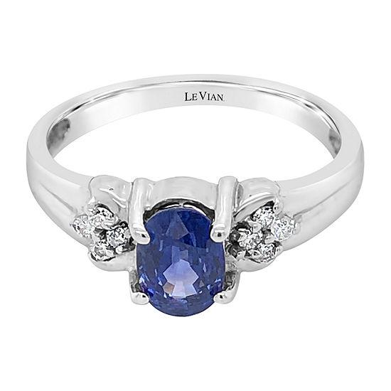 Le Vian Grand Sample Sale™ Ring featuring Cornflower Ceylon Sapphire™ Vanilla Diamonds® set in 14K Vanilla Gold®