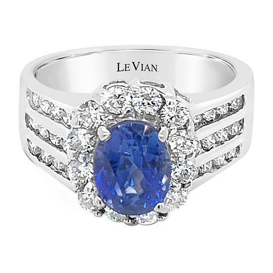 Le Vian Grand Sample Sale™ Ring featuring Cornflower Ceylon Sapphire™ Vanilla Diamonds® set in 18K Vanilla Gold®
