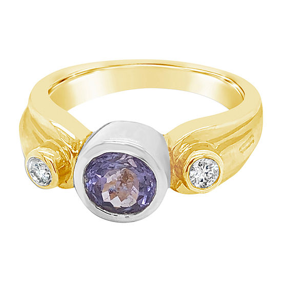 Le Vian Grand Sample Sale™ Ring featuring Blueberry Tanzanite® Vanilla Diamonds® set in 14K Two Tone Gold