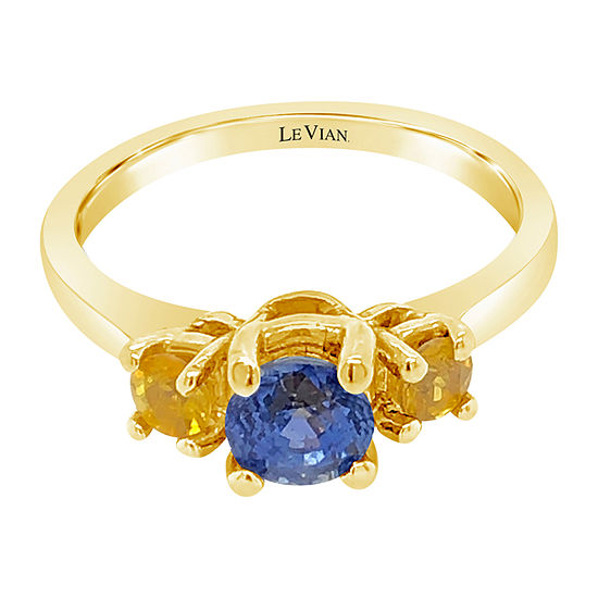Le Vian Grand Sample Sale™ Ring featuring Cornflower Ceylon Sapphire™ Yellow Sapphire set in 14K Honey Gold™