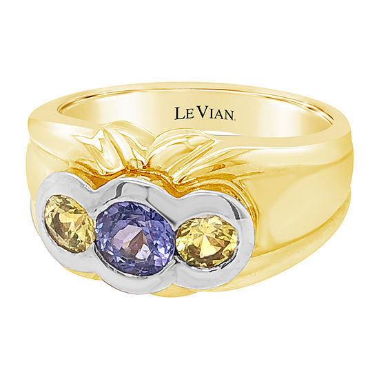 Le Vian Grand Sample Sale™ Ring featuring Blueberry Tanzanite® Yellow Sapphire set in 14K Two Tone Gold