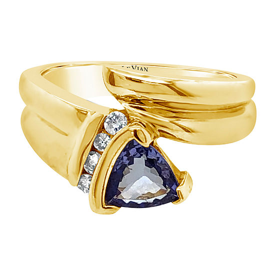 Le Vian Grand Sample Sale™ Ring featuring Blueberry Sapphire™ Vanilla Diamonds® set in 14K Honey Gold™