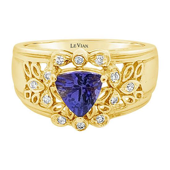 Le Vian Grand Sample Sale™ Ring featuring Blueberry Tanzanite® Vanilla Diamonds® set in 18K Two Tone Gold