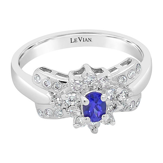 Le Vian Grand Sample Sale™ Ring featuring Blueberry Tanzanite® Vanilla Diamonds® set in 18K Vanilla Gold®
