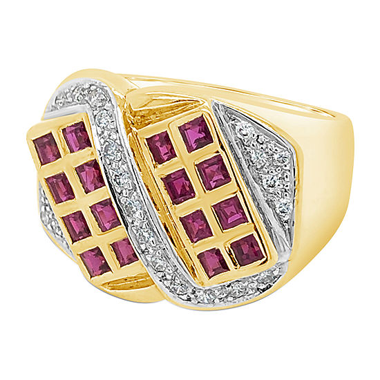 Le Vian Grand Sample Sale™ Ring featuring Passion Ruby™ Vanilla Diamonds® set in 18K Honey Gold™