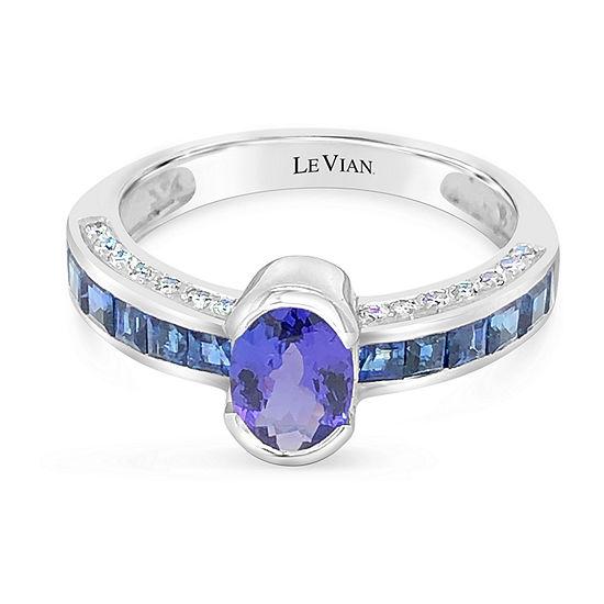 Le Vian Grand Sample Sale™ Ring featuring Blueberry Tanzanite® Blueberry Sapphire™ Vanilla Diamonds® set in 18K Vanilla Gold®
