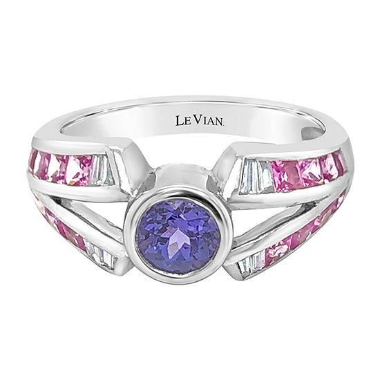 Le Vian Grand Sample Sale™ Ring featuring Blueberry Tanzanite® Bubble Gum Pink Sapphire™ Vanilla Diamonds® set in 18K Vanilla Gold®