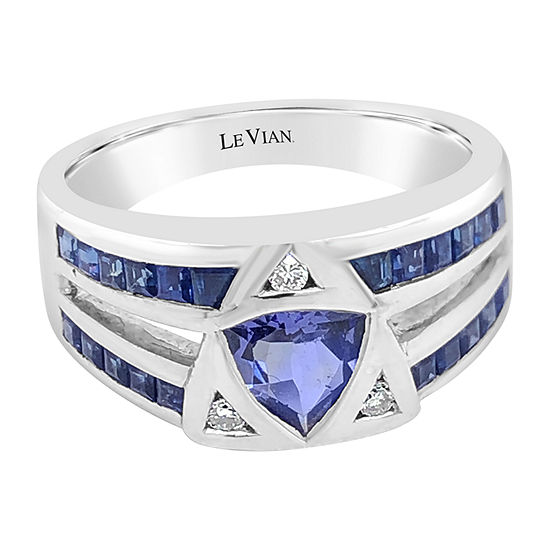 Le Vian Grand Sample Sale™ Ring featuring Blueberry Tanzanite® Blueberry Sapphire™ Vanilla Diamonds® set in 18K Vanilla Gold®