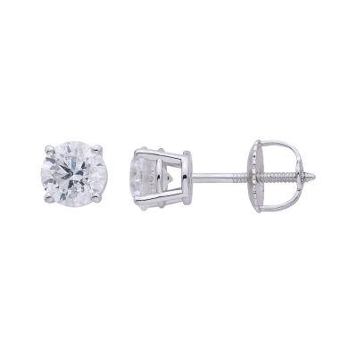 Premier Collection 1 CT. T.W. Diamond 14K White Gold Stud Earrings