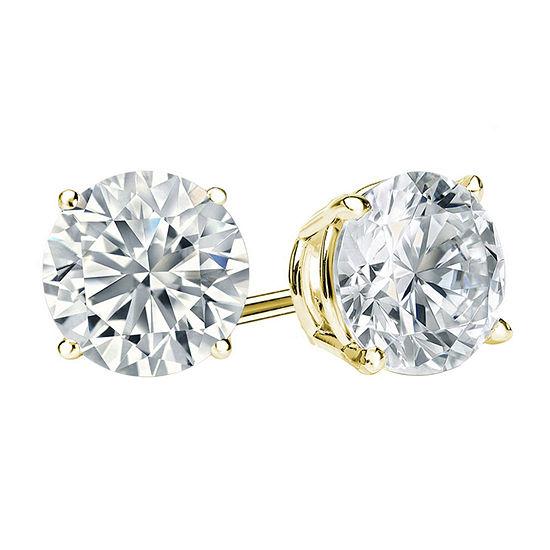 1 1/4 CT. T.W. Genuine White Diamond 14K Gold 5.4mm Stud Earrings