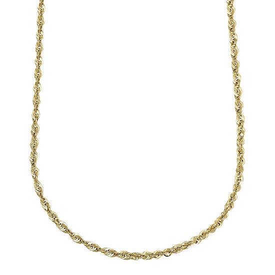 "10K Yellow Gold Hollow 18""-24"" Rope Chain"