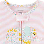 Carter's Girls One Piece Pajama Long Sleeve
