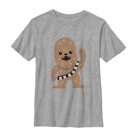 Star Wars Chewbacca Cutie Cartoon Chewie Boys Crew Neck Short Sleeve Star Wars Graphic T-Shirt - Preschool / Big Kid Slim