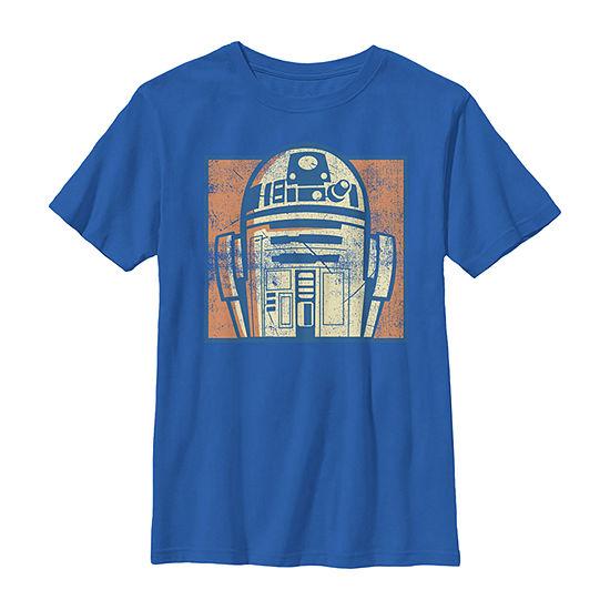 Star Wars R2-D2 Vintage Distressed Retro Cartoon Boys Crew Neck Short Sleeve Star Wars Graphic T-Shirt - Preschool / Big Kid Slim