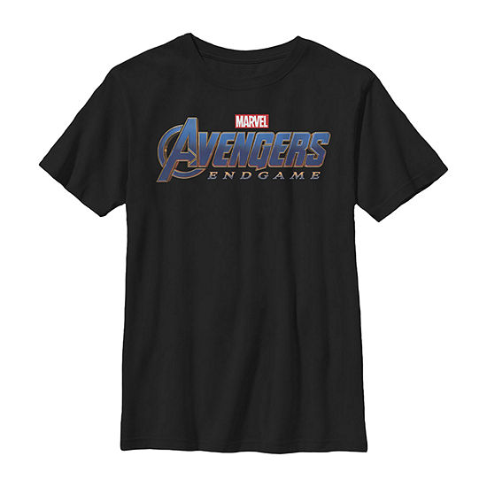 Marvel Avengers Endgame Movie Logo Boys Crew Neck Short Sleeve Marvel Graphic T-Shirt - Preschool / Big Kid Slim