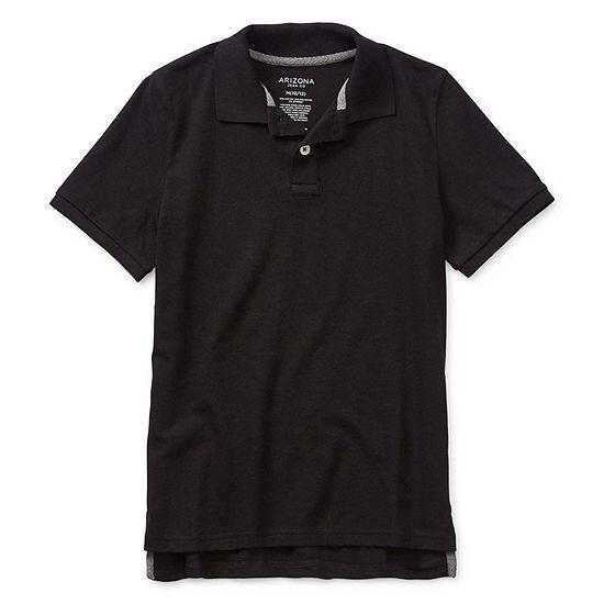 Arizona Boys Point Collar Short Sleeve Polo Shirt Preschool / Big Kid