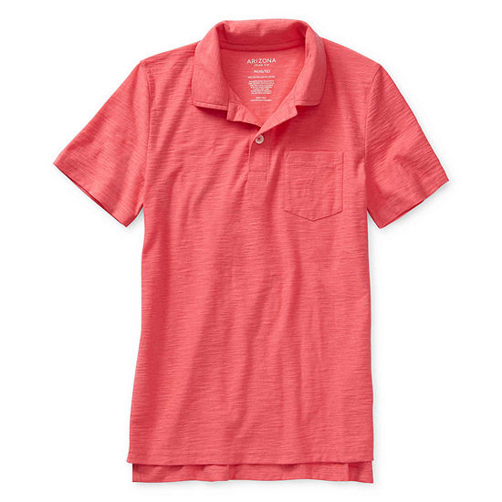 Arizona Little & Big Boys Short Sleeve Polo Shirt
