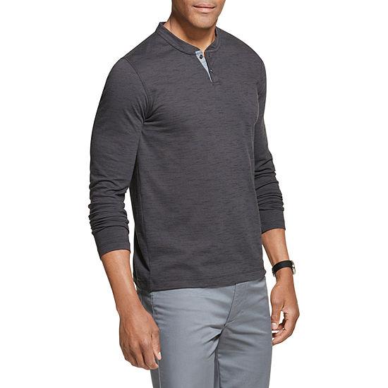 Van Heusen Never Tuck Mens Long Sleeve Henley Shirt