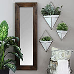 Stratton Home Decor White Planter 3-pc. Geometric Metal Wall Art