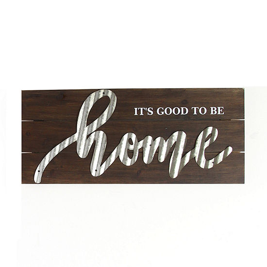 Stratton Home Decor Good To Be Home Wall Sign