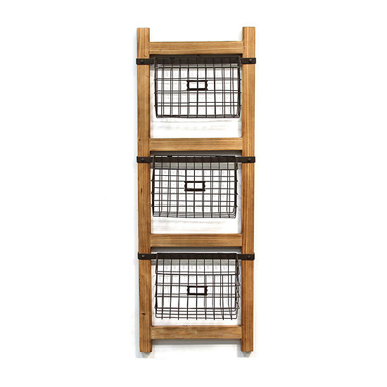 Stratton Home Decor Decorative Ladder Wall Basket