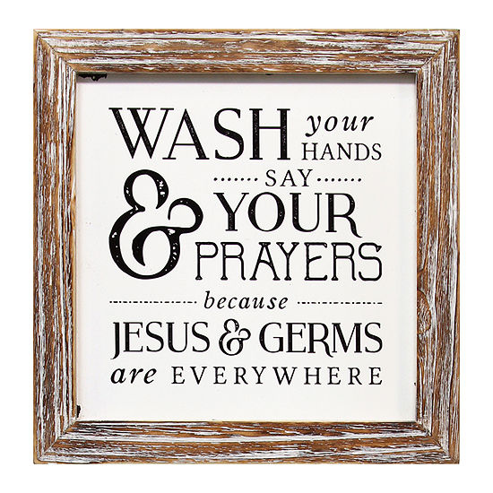 Stratton Home Decor Wash Your Hands Wall Sign