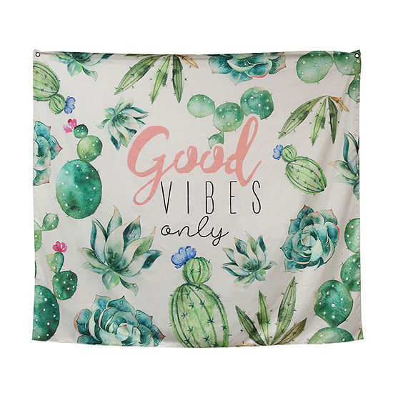 Stratton Home Decor Good Vibes Only Bohemian Tapestry