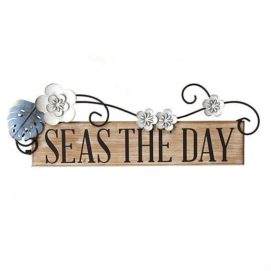 Stratton Home Decor Seas The Day Wall Sign