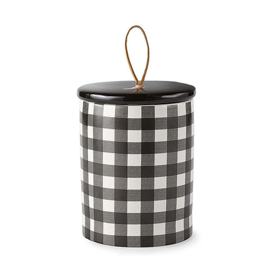 JCPenney Home Buffalo Check Ceramic Container Tabletop Decor