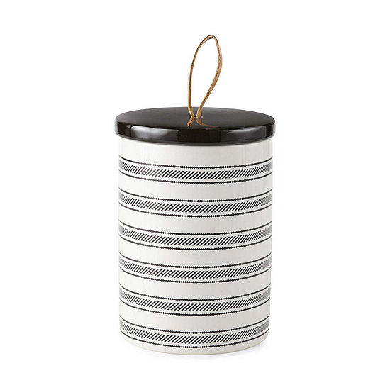 JCPenney Home Striped Ceramic Container Tabletop Decor