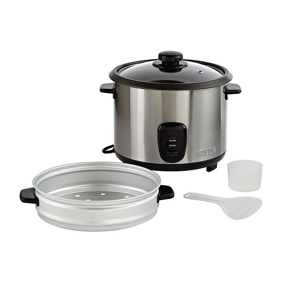 IMUSA Electric Stainless Steel Nonstick Deluxe Rice Cooker 10 Cup