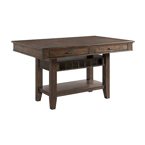 Rustic River Pub Table