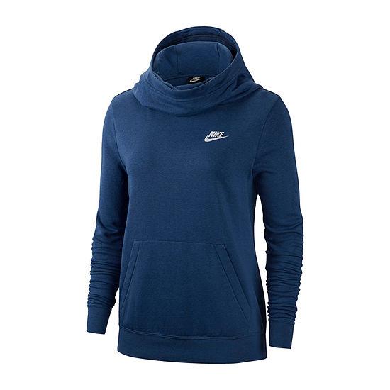 Nike Womens Cowl Neck Long Sleeve Hoodie