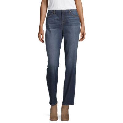 Liz Claiborne Womens Straight Leg Jean