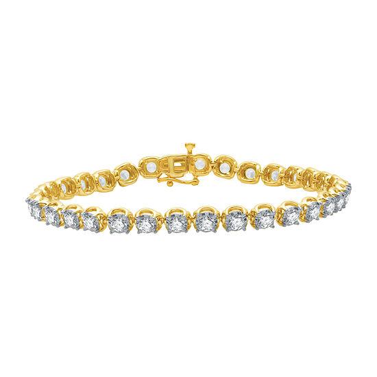 Ever Star 5 CT. T.W. Lab Grown White Diamond 10K Gold Round Tennis Bracelet