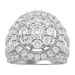 Womens 4 CT. T.W. Genuine White Diamond 10K White Gold Engagement Ring
