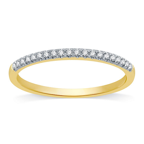 Ever Star Womens 1/10 CT. T.W. Lab Grown White Diamond 10K Gold Band