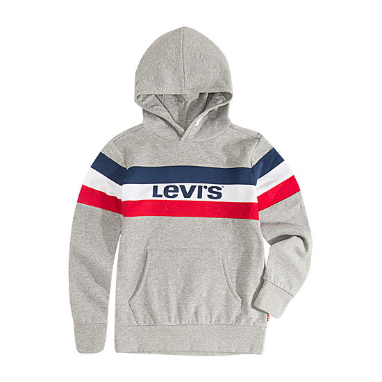 Levi's Boys Hooded Neck Long Sleeve Sweatshirt Toddler
