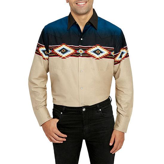 Ely Cattleman Aztec Border Print Western Shirt