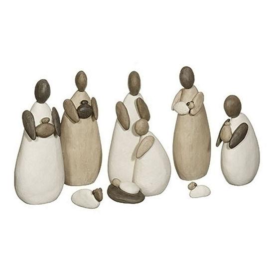 Roman Pebble Nativity 7-pc. Figurine