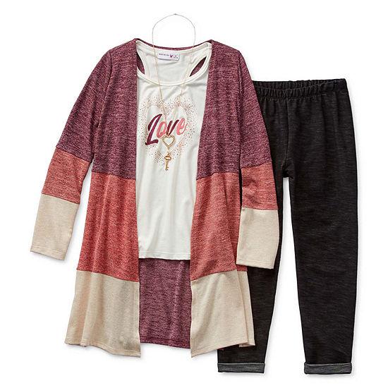 Knit Works Girls 3-pc. Legging Set - Big Kid