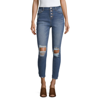 Vanilla Star - Juniors Womens High Waisted Skinny Fit Jean