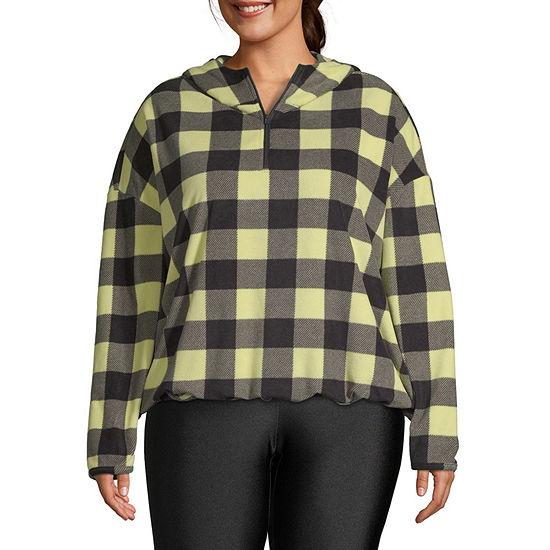 Flirtitude Juniors Plus Womens Hooded Neck Long Sleeve Sweatshirt