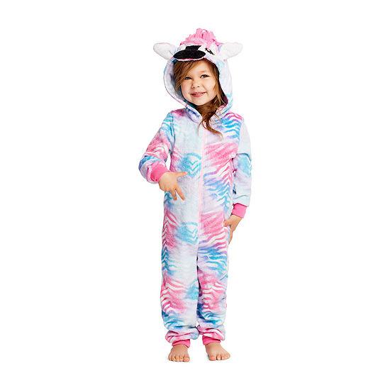 Jelli Fish Kids Toddler Girls Fleece Long Sleeve One Piece Pajama