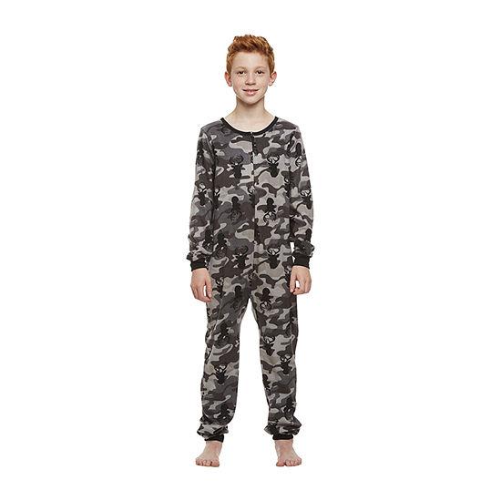 Jelli Fish Kids Big Boys Knit Long Sleeve One Piece Pajama